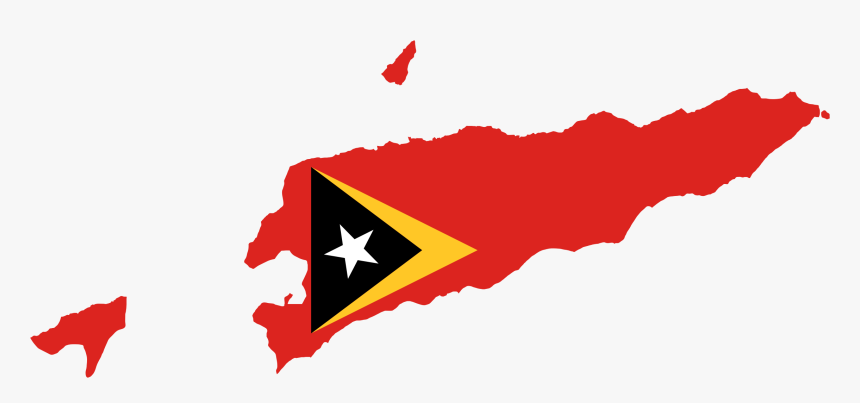 East Timor Map Flag Clip Arts - East Timor Flag On Country, HD Png Download, Free Download
