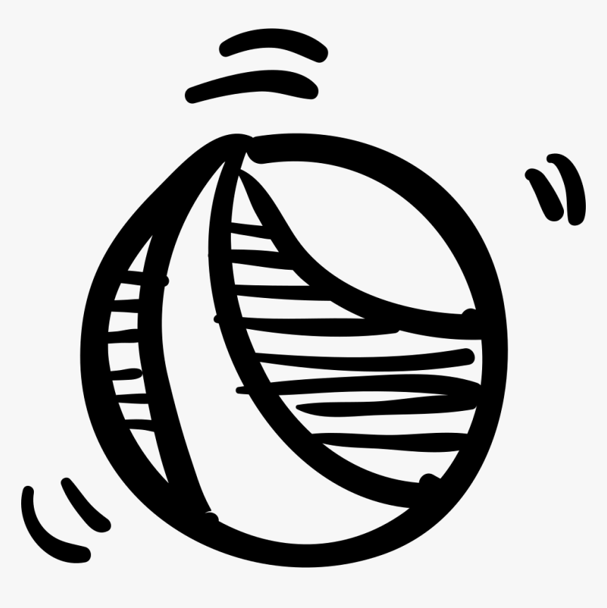 Ball Hand Drawn Toy - Icon, HD Png Download, Free Download