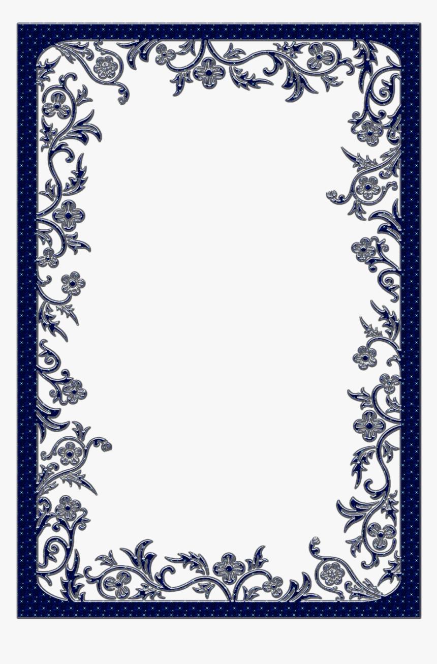 Large Dark Blue Transparent Frame - Fancy Page Border Png, Png Download, Free Download