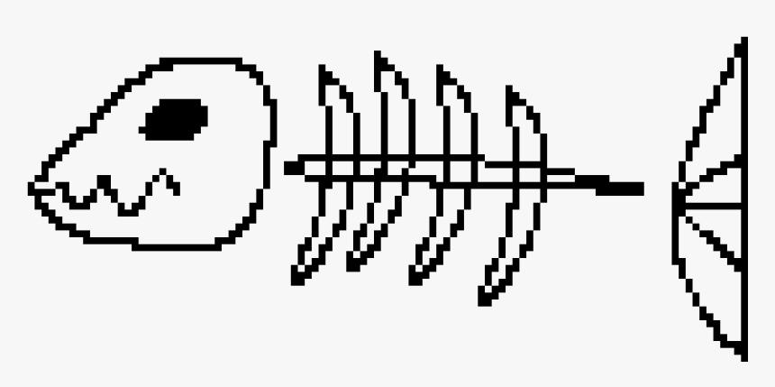 Fish Bone Pixel Transparent, HD Png Download, Free Download
