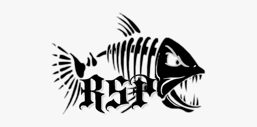 Decal Sticker Fish Bone Fishing - Fish Bones, HD Png Download, Free Download