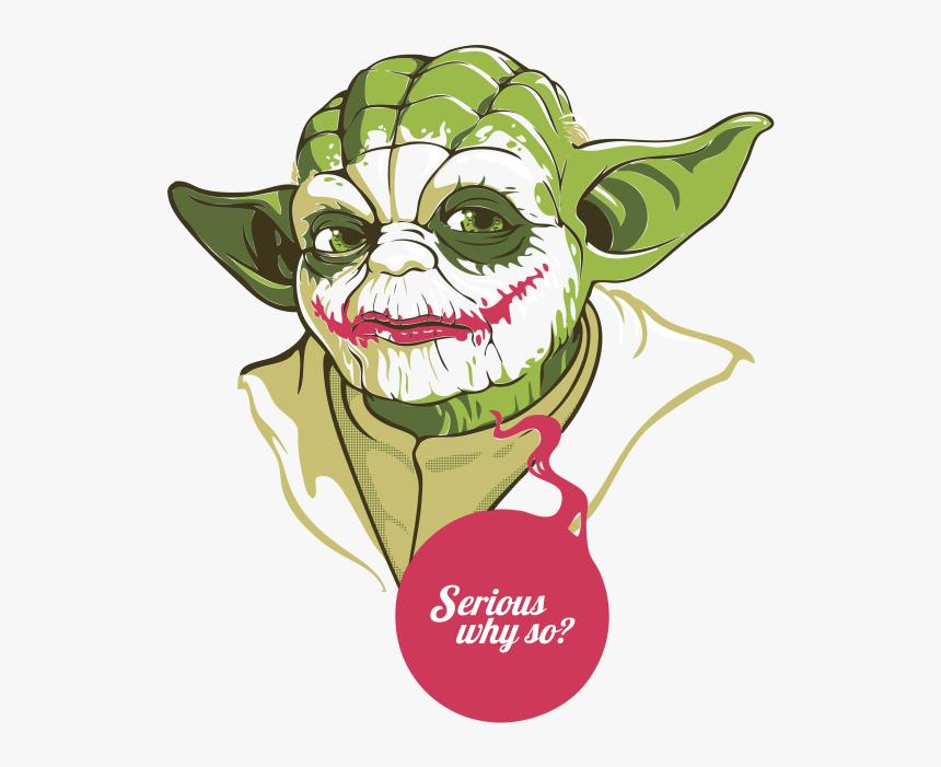 Yoda Joker Luke Skywalker T-shirt Anakin Skywalker - Yoda Joker T Shirt, HD Png Download, Free Download