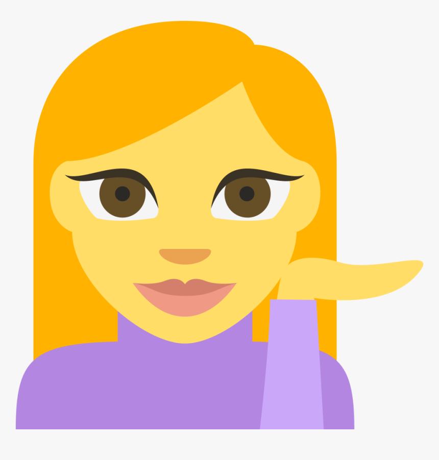 File - Emojione 1f481 - Svg - Emoji - Person Tipping Hand Emoji, HD Png Download, Free Download