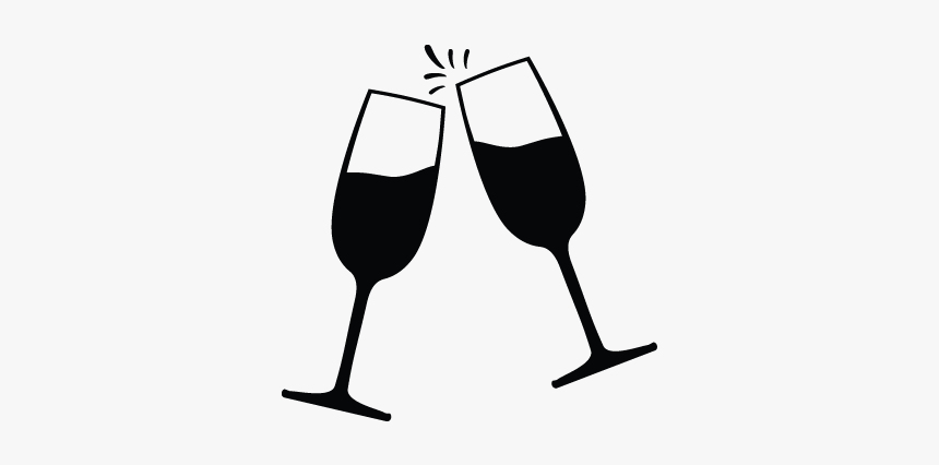 Clip Art Champagne Glass Icon Wine Glasses Clipart Black And White Hd Png Download Kindpng