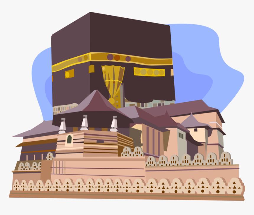 vector illustration of kabah or kaaba al masjid al hd png download kindpng kaaba al masjid al hd png download