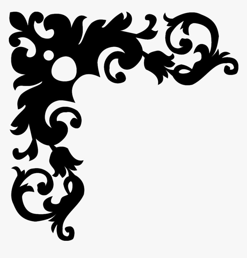 Black And White Flower Borders Design - Border Design Clipart Black And White, HD Png Download, Free Download