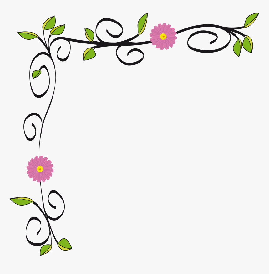 Flower Border Line Png Flower Border Line Design Transparent