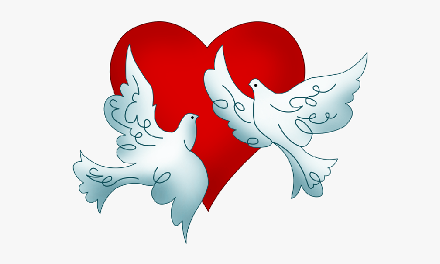 Wedding Doves Png - Free Clip Art Wedding Doves, Transparent Png, Free Download