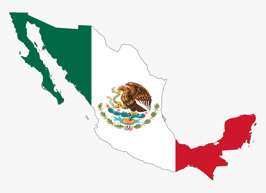 Mexican Flag Clip Art Free - Mexican Flag On Mexico, HD Png Download, Free Download