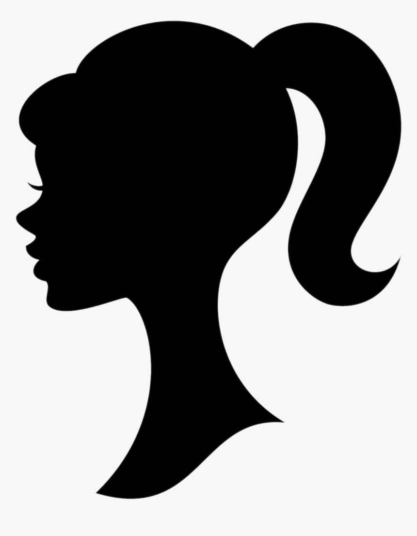 Girl With Ponytail - Head Barbie Logo, HD Png Download, Free Download