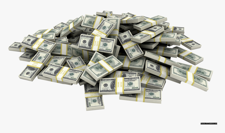 Transparent Stack Of Money Clipart Black And White - Transparent Stacks Of Money, HD Png Download, Free Download