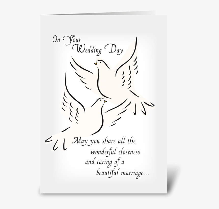 Wedding Doves, Congratulations Greeting Card - Illustration, HD Png Download, Free Download