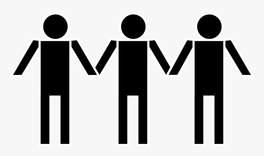 Holding Hands Stick Figure Free Content Clip Art - People Holding Hands Clipart, HD Png Download, Free Download