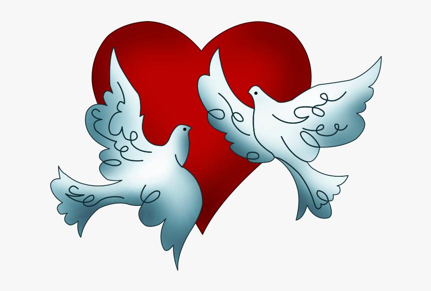 Clip Art, San Valentin Ideas, Valentino, Santos, Valentines, - Free Clip Art Wedding Doves, HD Png Download, Free Download