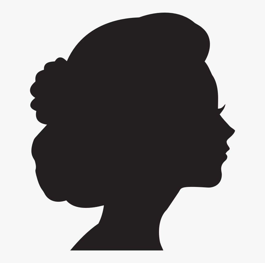 Head, Female, Woman, Girl, People, Person, Human - Side Profile Face Silhouette, HD Png Download, Free Download