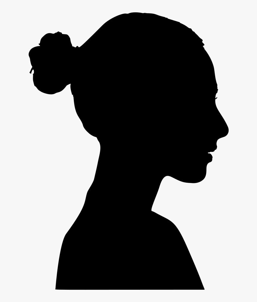 Silhouette Female Clip Art - Profile Woman Silhouette, HD Png Download, Free Download