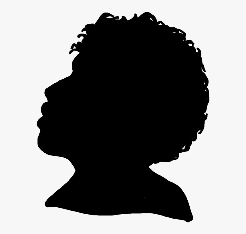 Black Silhouette Profile Female - Child Profile Silhouette Transparent, HD Png Download, Free Download