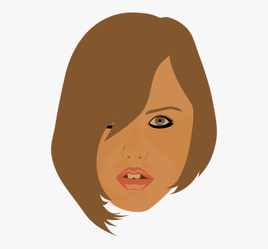 Girl Head Png, Transparent Png, Free Download