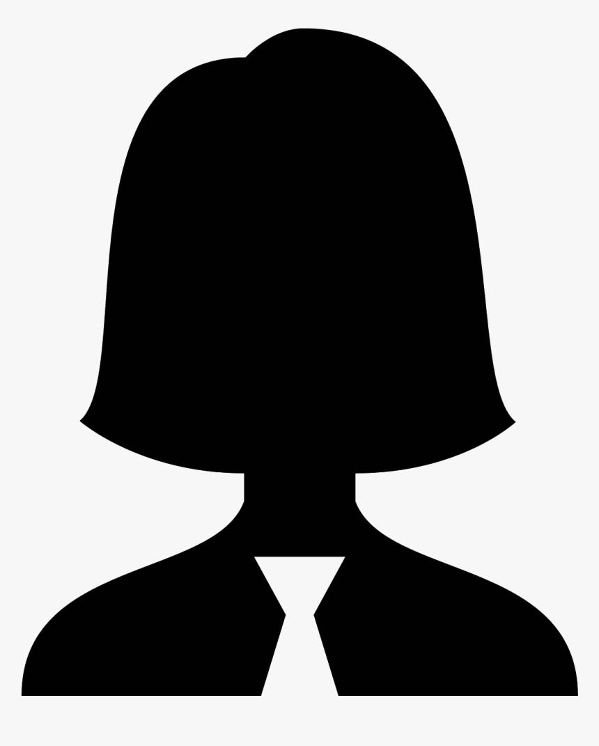 """It""""s A Simplified Portrait Of A Head Bearing A Female - Profile Woman Clipart, HD Png Download, Free Download"""