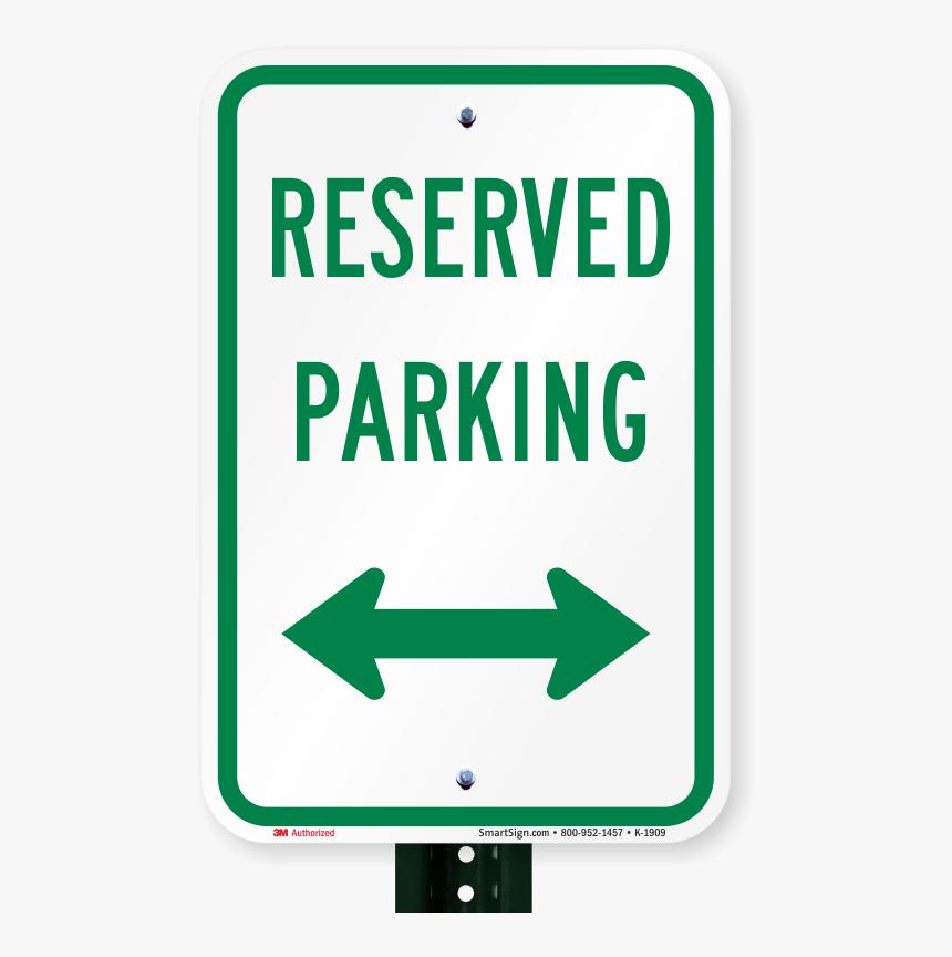 Reserved Parking Sign - Parking Sign, HD Png Download, Free Download