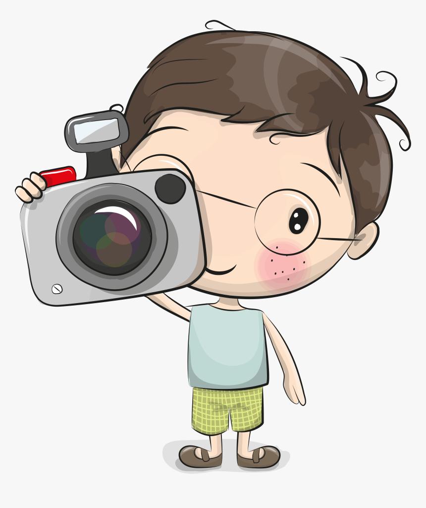 Photographer Cliparts Boy - Cute Cartoon Boy Vector Art, HD Png Download -  kindpng