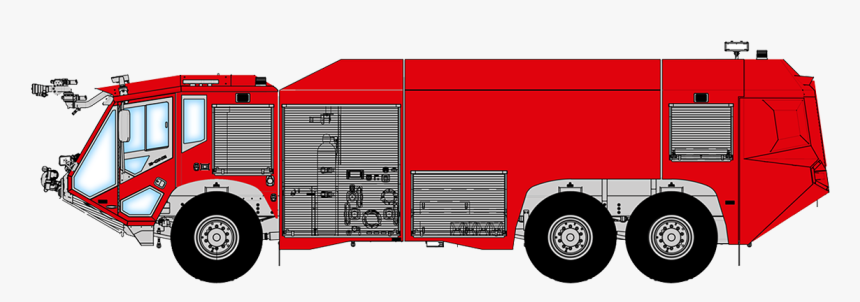 Fire Engine Royalty-free Car Illustration Vector Graphics - Airport Fire Engine Png, Transparent Png, Free Download