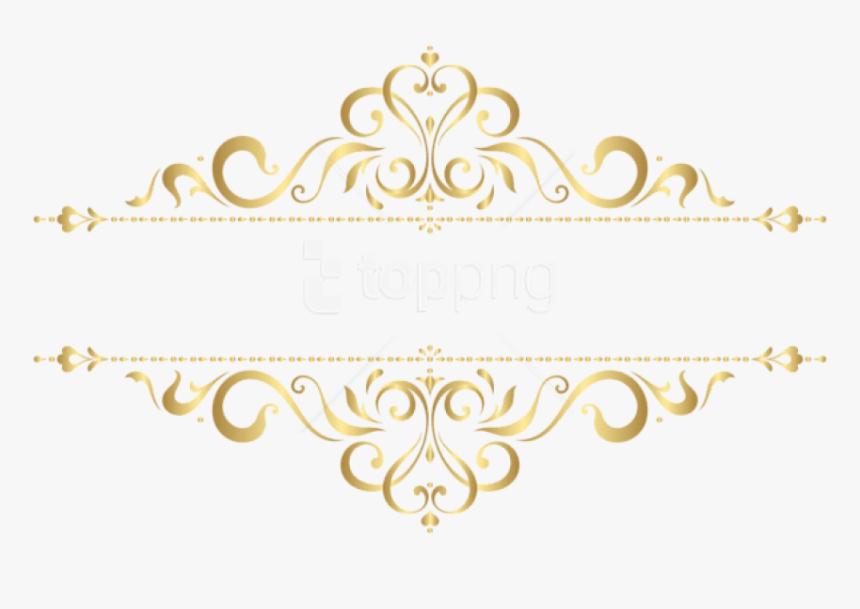 Free Png Download Golden Ornament Clipart Png Photo - Gold Floral Frame Png, Transparent Png, Free Download