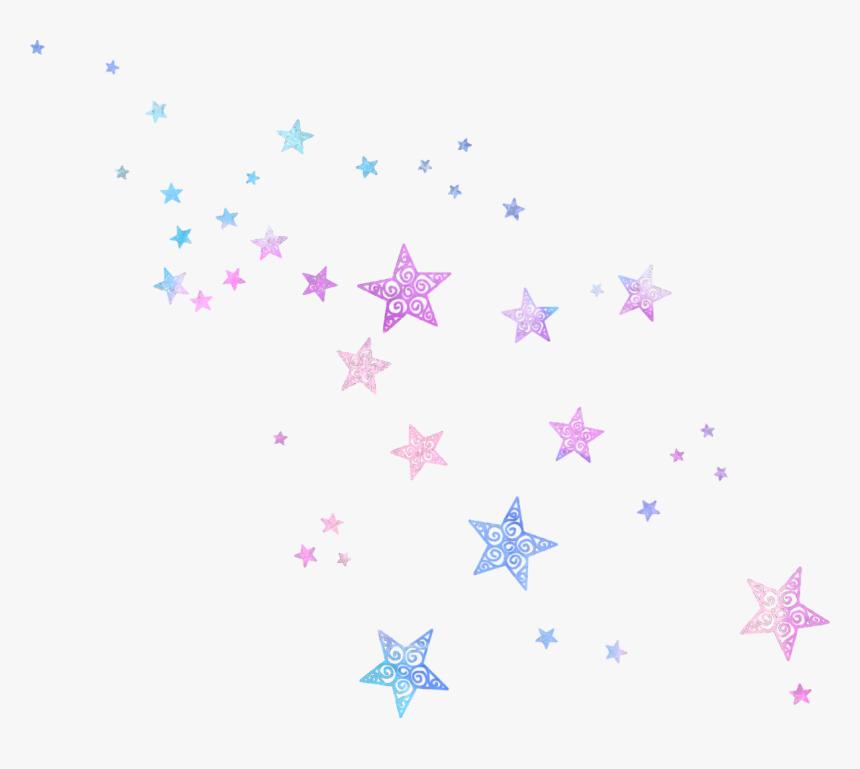 Stars Kawaii Kpop Pink Blue Glitter Sparkle Aesthetics - Sparkle Glitter Png, Transparent Png, Free Download