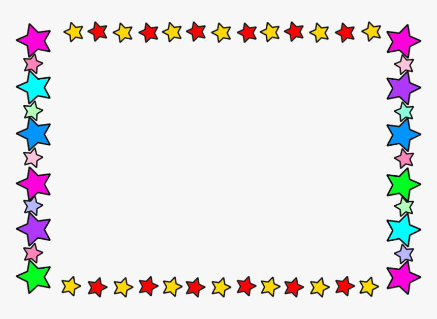 Star Frame Colour - Border Frame Star, HD Png Download, Free Download