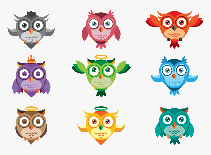 Transparent Clipart Of An Owl - Cute Owl Icon, HD Png Download, Free Download