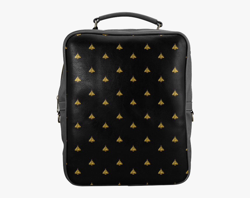 Gold Christmas Tree With Star Square Backpack - Backpack, HD Png Download, Free Download