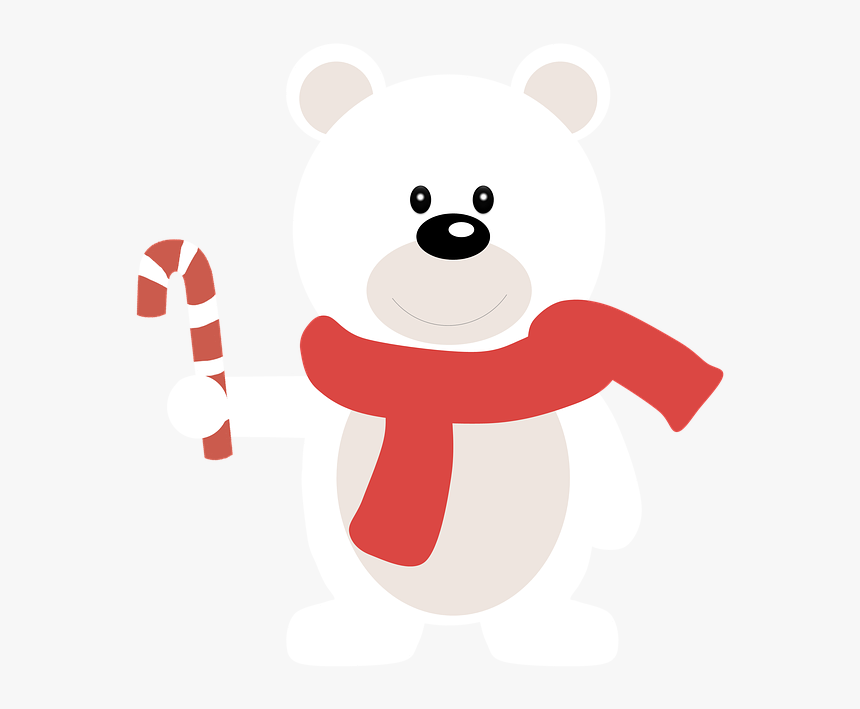 Christmas Bear White Bear Alegre Illustration Clipart Ours Polaire Png Transparent Png Kindpng