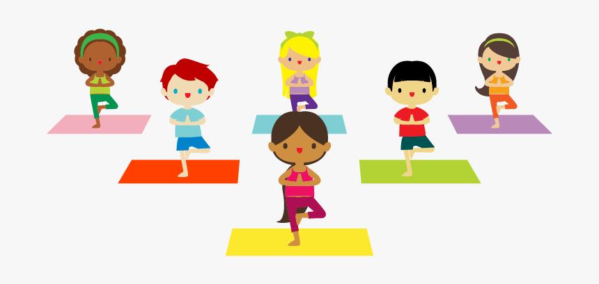 Cartoon Kids Yoga Hd Png Download Kindpng