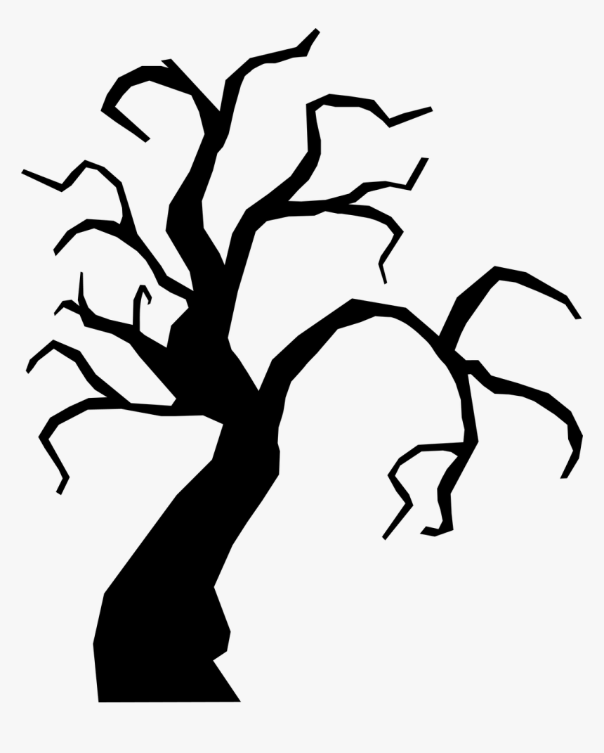 Scary Tree Svg Cut File Scary Tree Svg Hd Png Download Kindpng