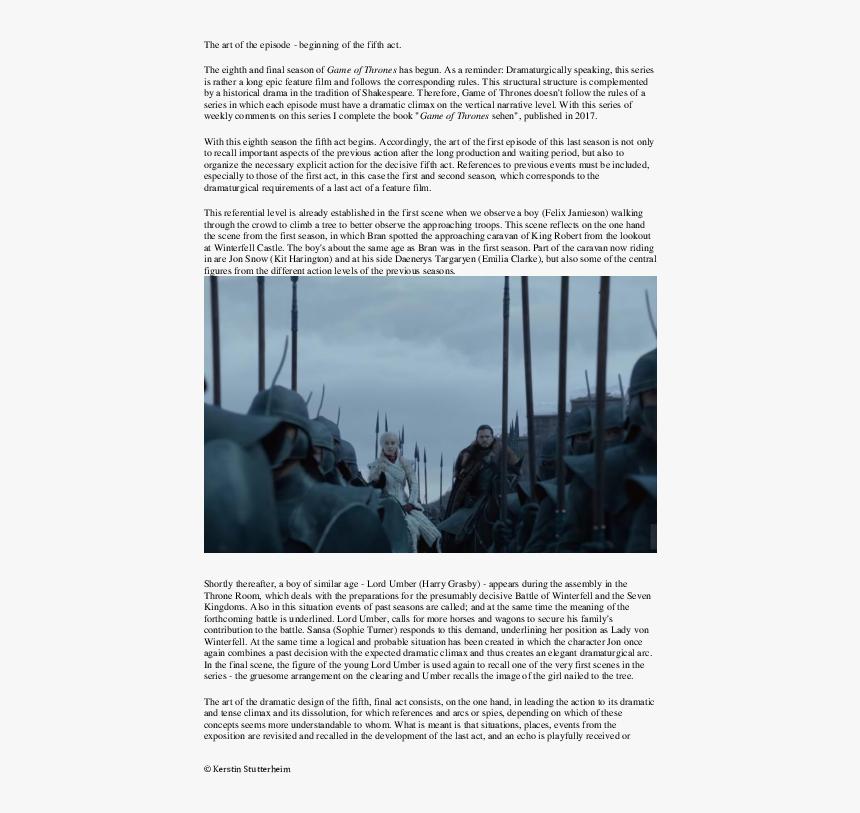 Transparent Kit Harington Png - Game Of Thrones Episode 1 Season 8, Png Download, Free Download