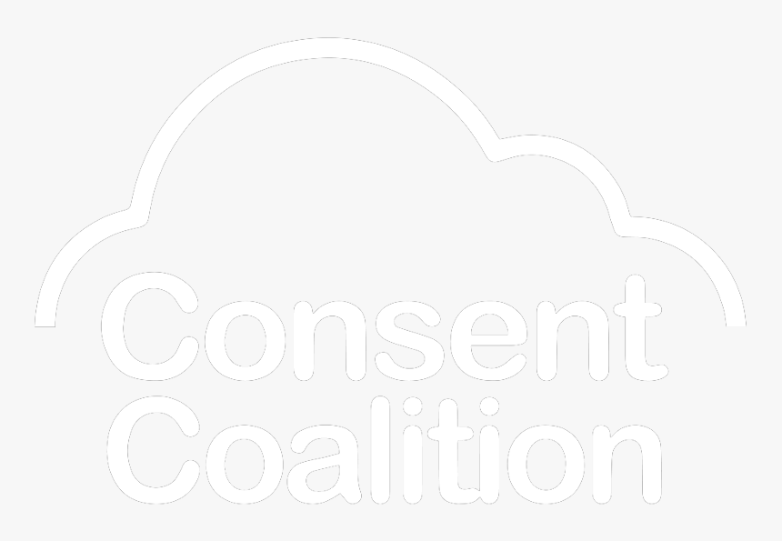 Consent Coalition Logo White Nsvss - Graphic Design, HD Png Download, Free Download