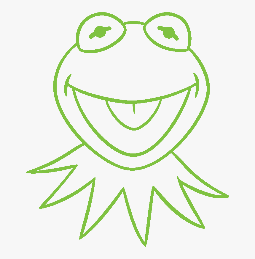 Transparent Muppets Png - Easy Kermit The Frog Drawing, Png Download, Free Download