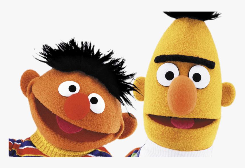 Sesame Street Bert And Ernie Heads Transparent Png Bert
