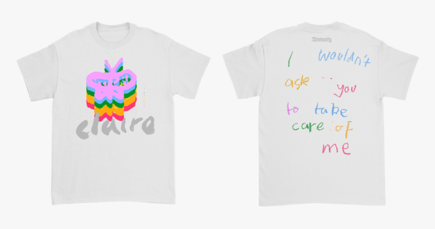 Rainbow Butterfly White T - T Shirt Template Unisex Black, HD Png Download, Free Download
