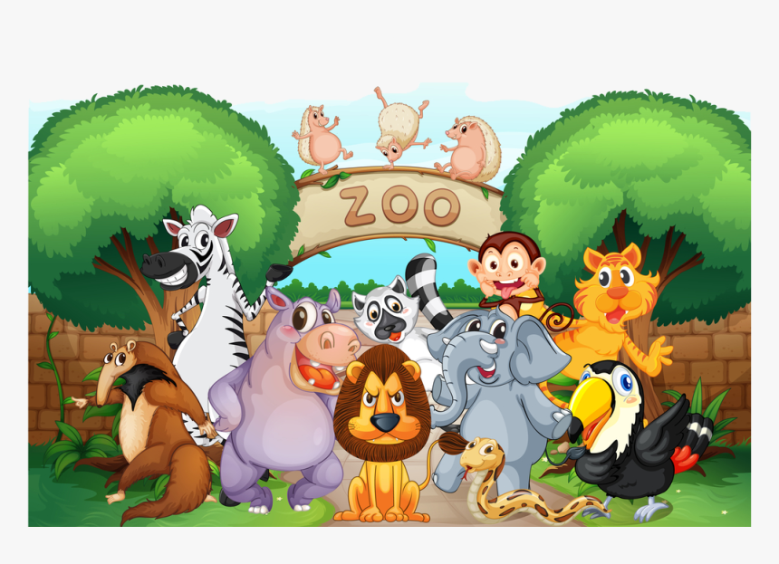 Transparent Zoo Clipart - Zoo Animals, HD Png Download - kindpng