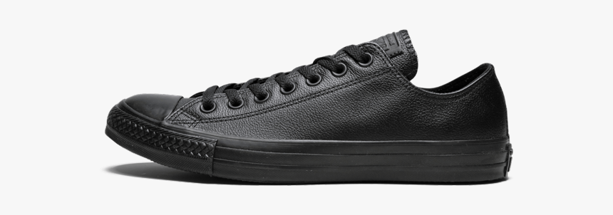 """Converse Chuck Taylor All Star Ox """"black Leather - Skate Shoe, HD Png Download, Free Download"""