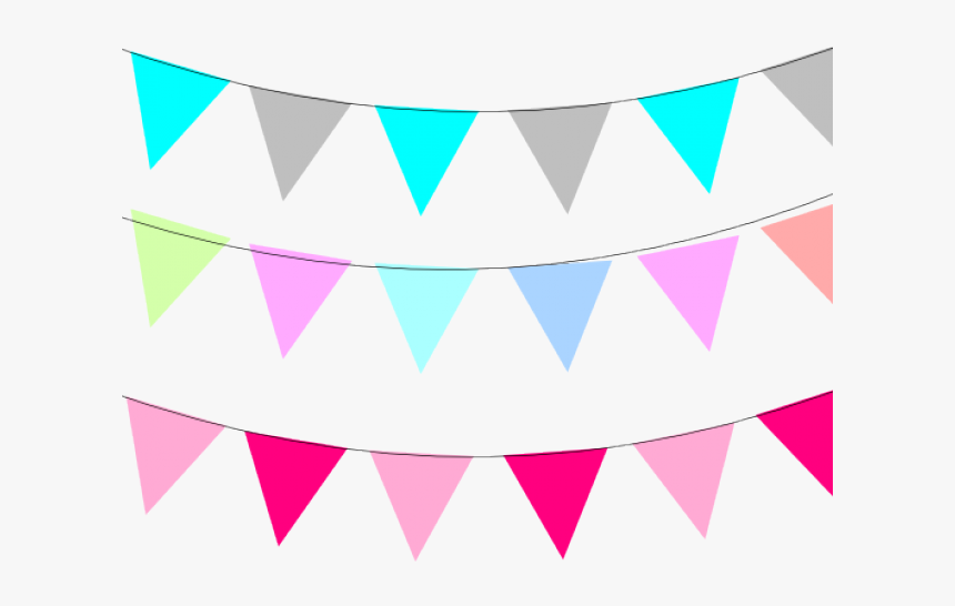 Pastel Clipart Flag Banner - Banner Clip Art Colorful, HD Png Download, Free Download