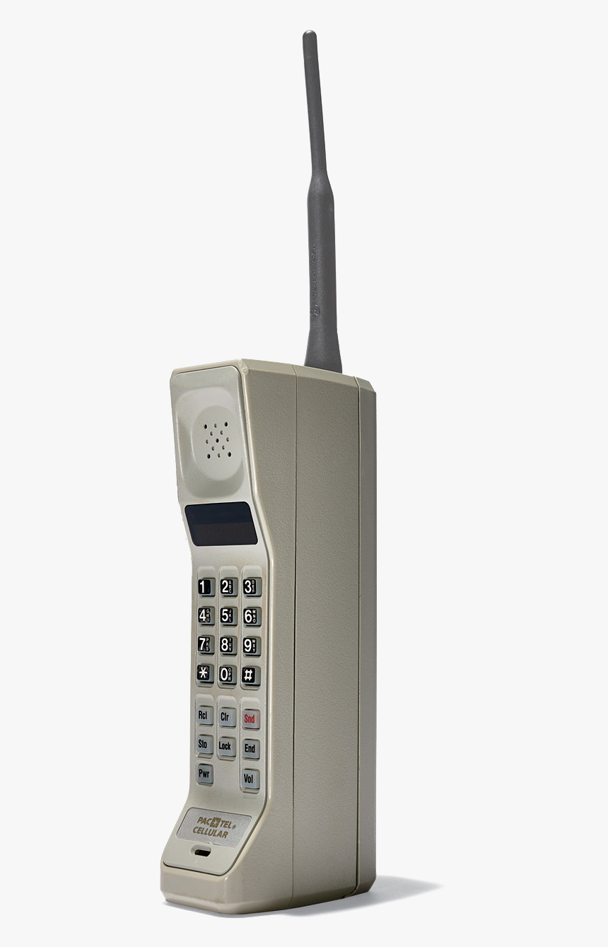 Cell Phone Png Old School - Motorola First Cell Phone, Transparent Png -  kindpng