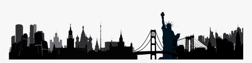 Russia Bridge International Png - Worldwide Landmarks Silhouettes Png, Transparent Png, Free Download
