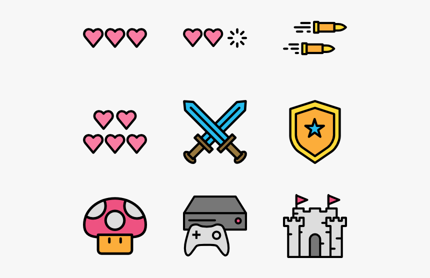Space Video Games Icons, HD Png Download, Free Download