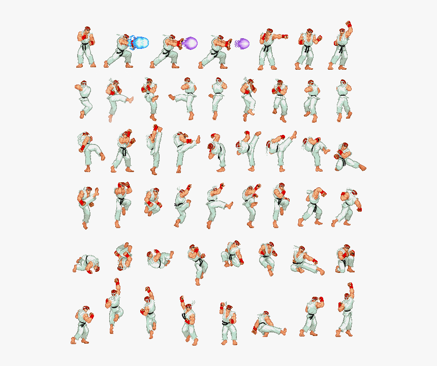 Street Fighter Sprite Animation Hd Png Download Kindpng