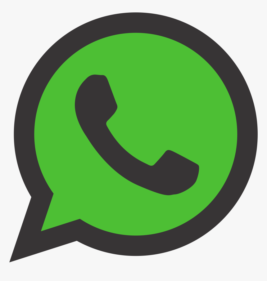 Whatsapp Icon Png Grey Png Download Black Whatsapp Logo Png Transparent Png Kindpng