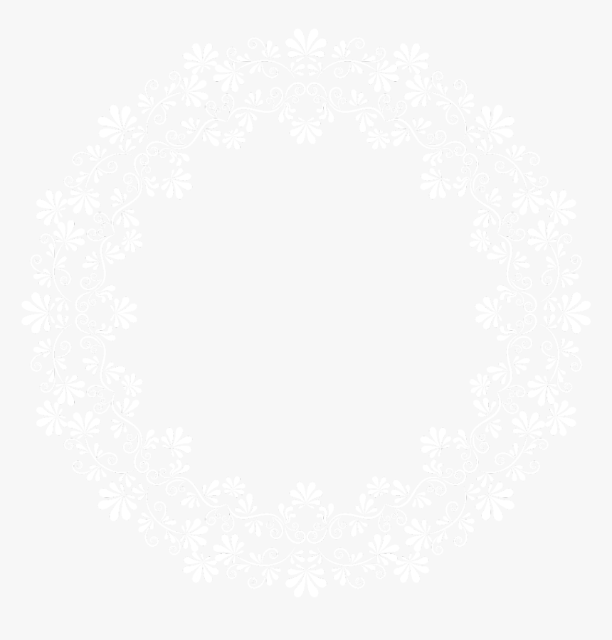 #whiteflowers #vinesandleaves #white #wreath #frame - Circle Lace Border Png, Transparent Png, Free Download