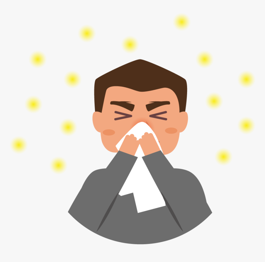 People With Hay Fever Or Perennial Allergic Rhinitis - Hay Fever Clipart, HD Png Download, Free Download