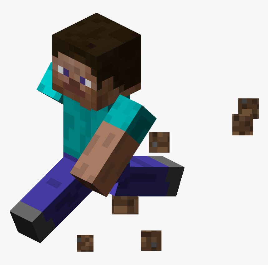 Sprinting Steve Minecraft In 10 Seconds Gif Hd Png Download